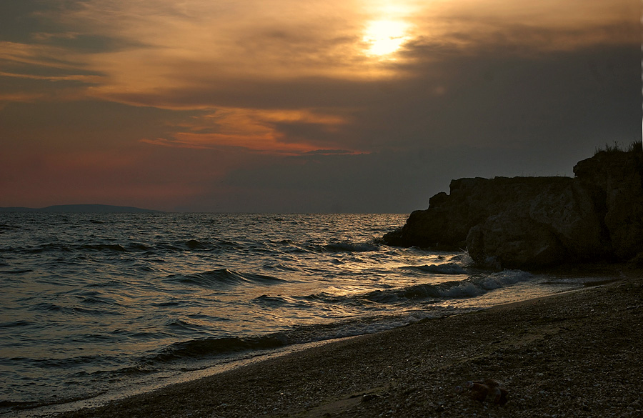 """photo """"***"""" tags: landscape, sunset, water"""