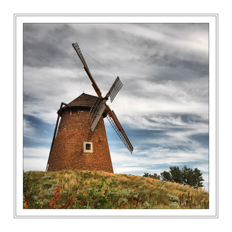 """photo """"Windmill"""" tags: architecture, landscape, summer"""