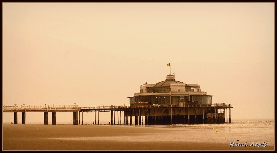 "photo ""Blankenberge pier"" tags: landscape, architecture, sunset"
