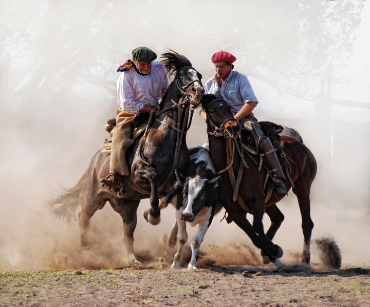 """фото """"men and horses.."""" метки: природа, путешествия, Южная Америка"""