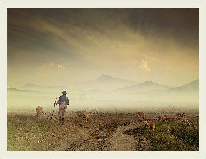"photo ""Shepherd"" tags: landscape, mountains"