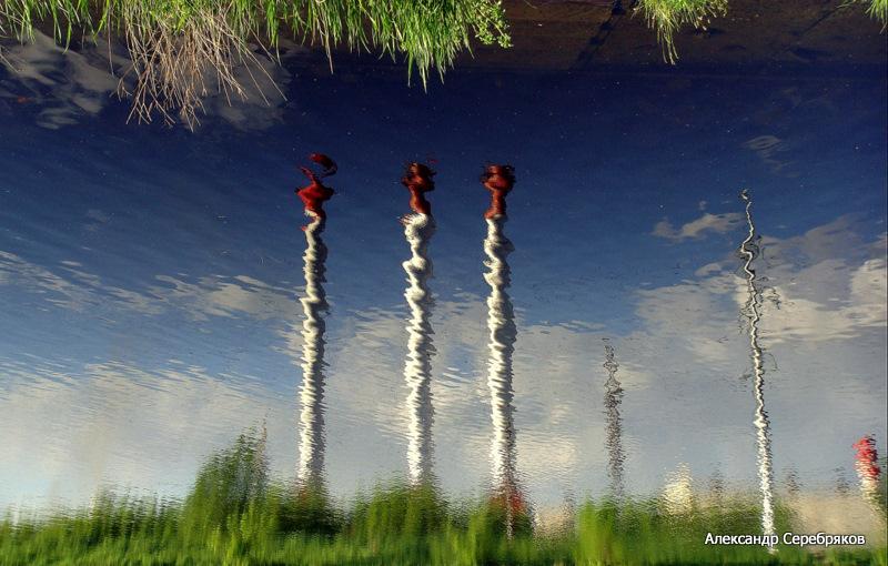 """photo """"природа,вода,отражение,эксперименты"""" tags: landscape, fragment,"""