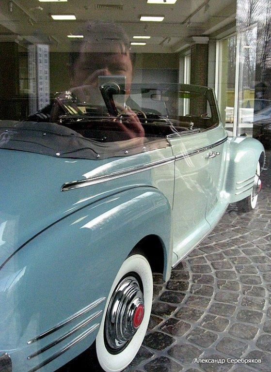 "photo ""авто,авотомобиль,ретро,ретроавтомобиль,отражение,эксперимент"" tags: genre, technics,"