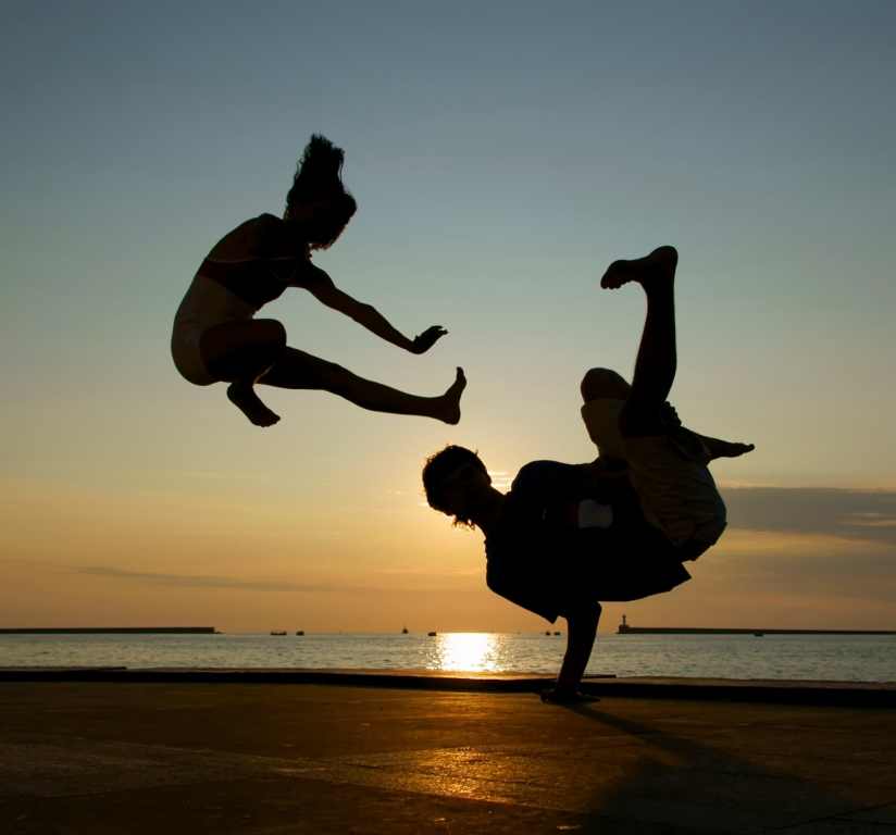 """фото """"Танец на закате"""" метки: пейзаж, жанр, закат"""