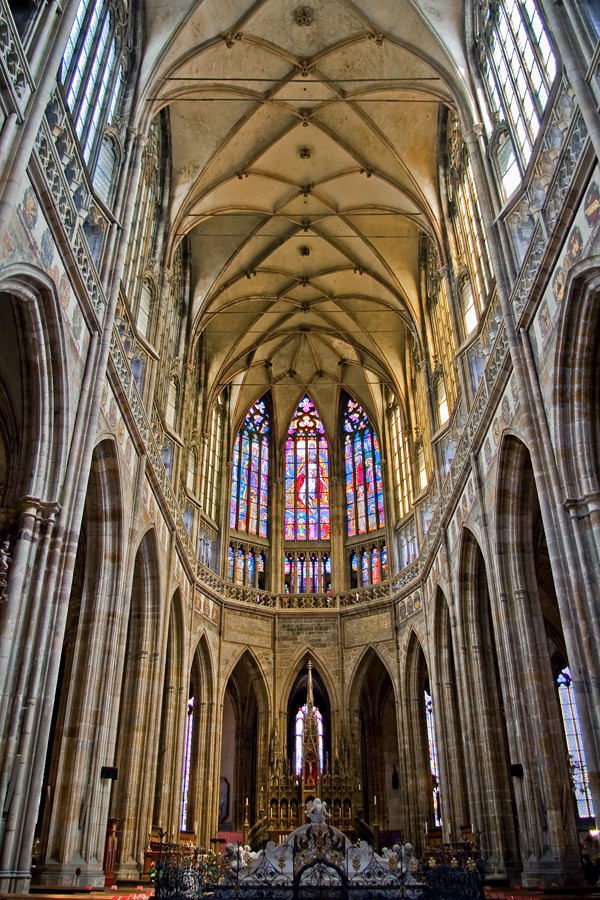 """photo """"St Vitus Cathedral"""" tags: travel, interior, Europe"""
