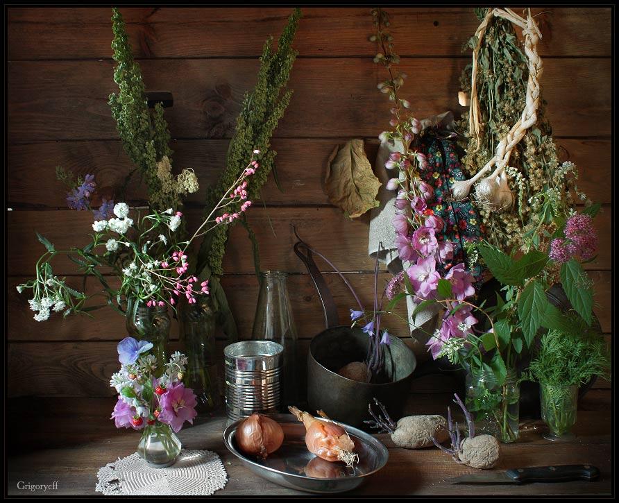 """photo """"Village Still Life. Romantic"""" tags: still life,"""