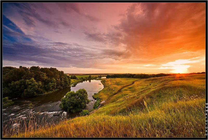 """фото """"Закат после бури"""" метки: пейзаж, закат, лето"""