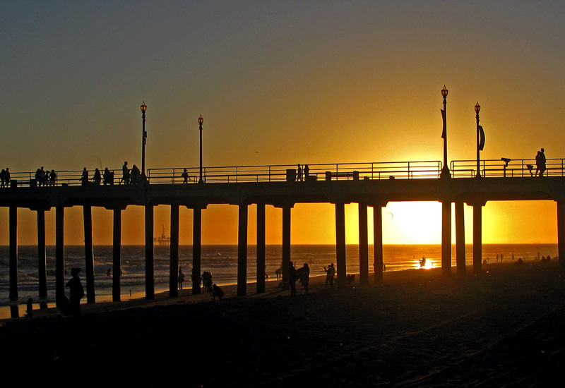 "photo ""Pier at sunset"" tags: landscape, water"
