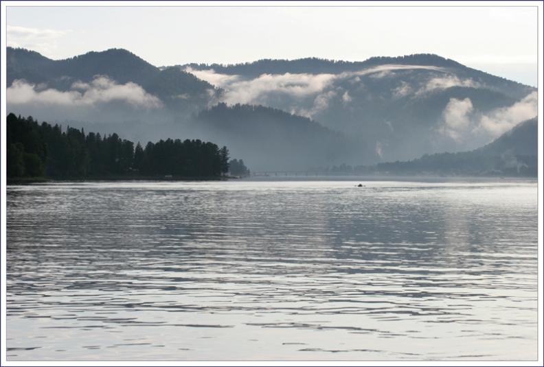 "photo ""Серебряный вечер на Телецком Озере"" tags: landscape, water"