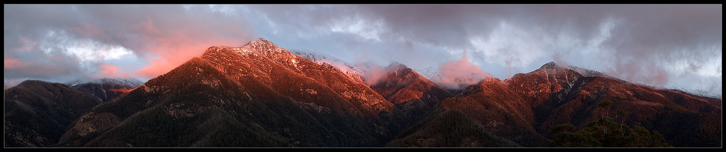 "photo ""Snowy mountains"" tags: landscape, panoramic, mountains"