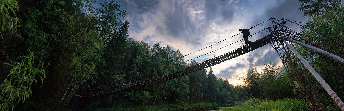 """photo """"The Bridge"""" tags: landscape, travel,"""