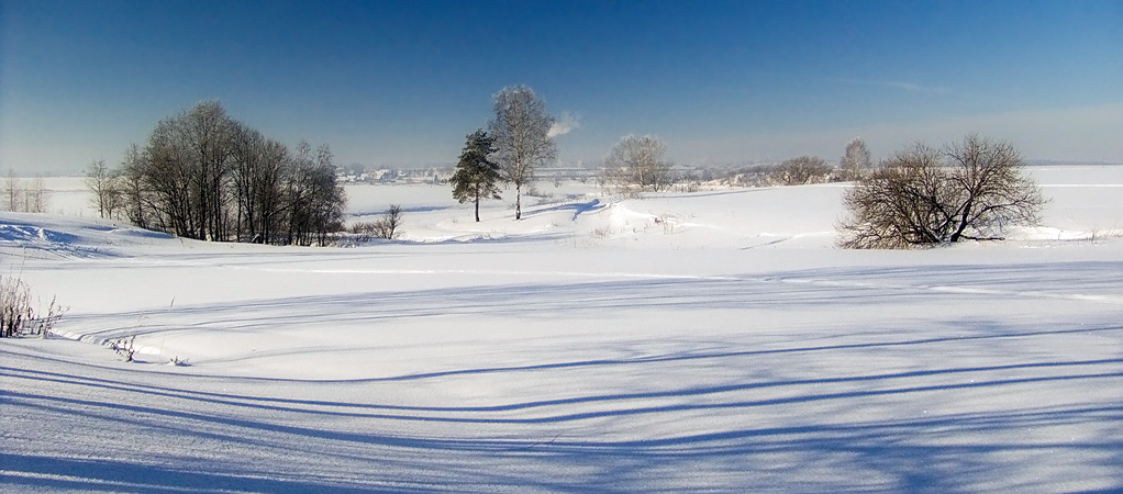 "фото ""Длинные тени"" метки: пейзаж, зима"