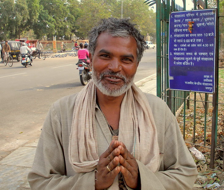"""фото """"любезный неприкасаемый на улицах Агры."""" метки: портрет, путешествия, Азия, мужчина"""