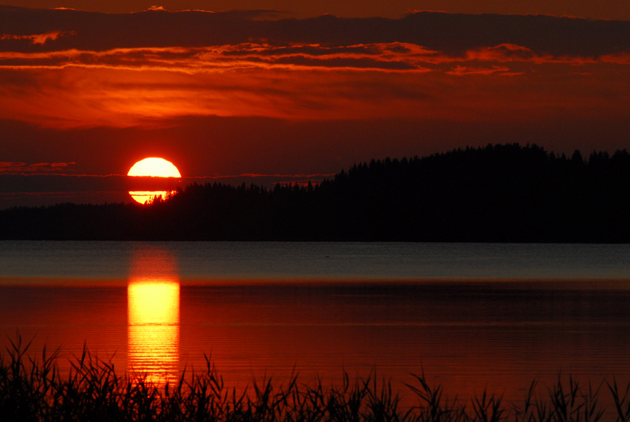 "фото ""Закат на озере"" метки: пейзаж, закат"