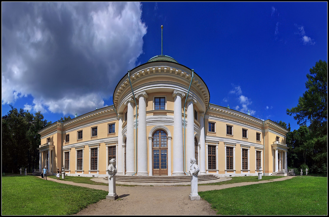 "photo ""Manor Arkhangelskoye near Moscow"" tags: architecture, panoramic, landscape,"