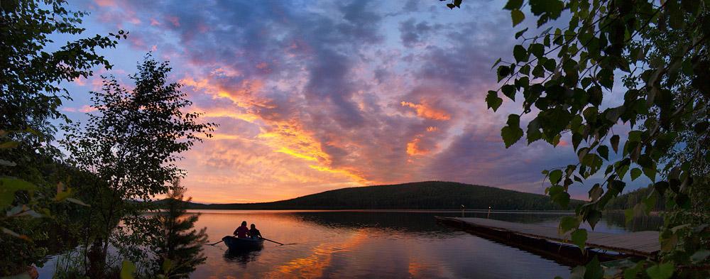 "фото ""Озеро Песчаное"" метки: пейзаж, вода, закат"