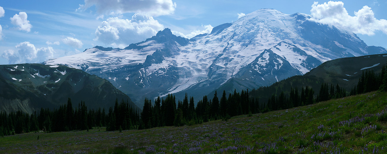 "photo ""Rainier"" tags: landscape, mountains"