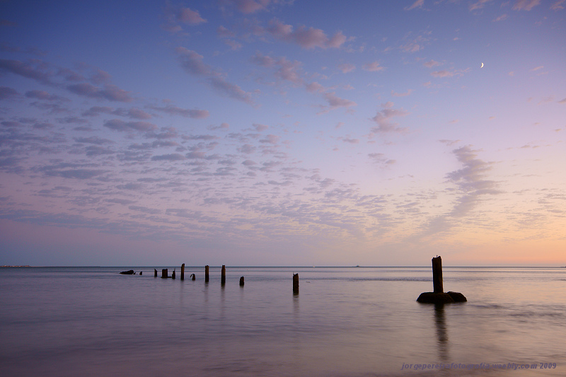 "photo ""The old pier"" tags: landscape, sunset"