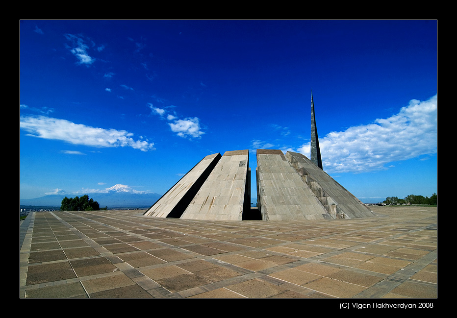 "photo ""Memorial and Ararat"" tags: architecture, city, landscape,"