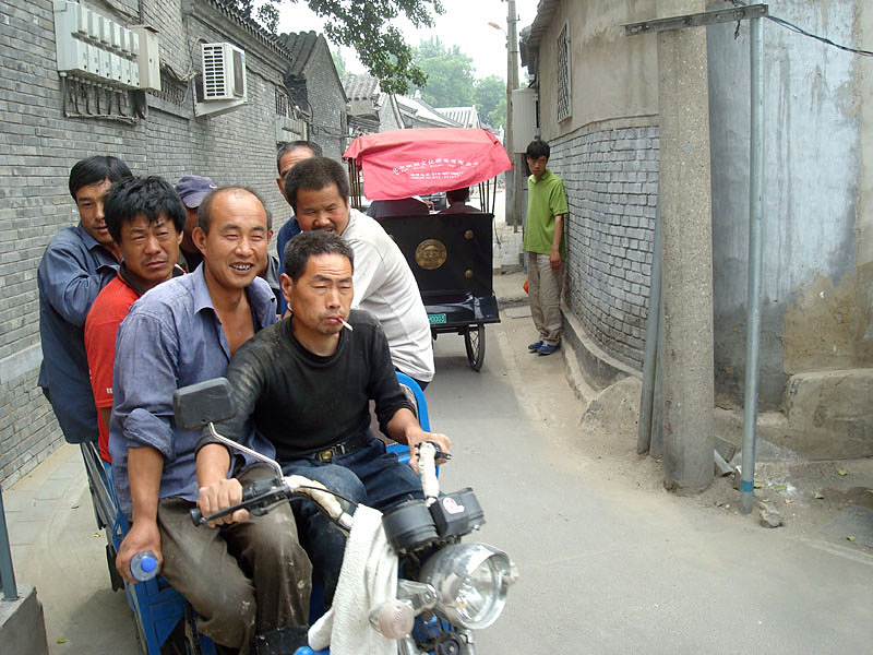 "photo ""People in the Hutong(bystreet)"" tags: portrait, reporting, man"
