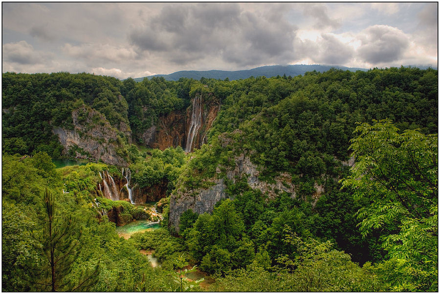 "photo ""Falls of Plitvice"" tags: landscape, travel, Europe, mountains"