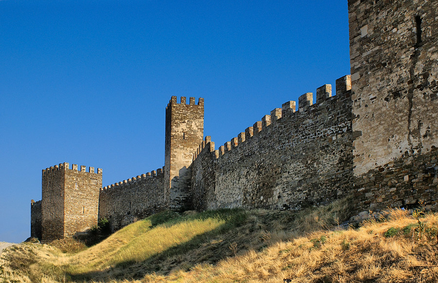 "photo ""Genoese fortress"" tags: architecture, travel, landscape, Europe"