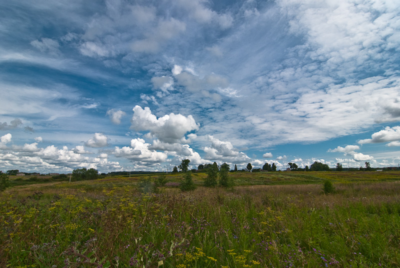 "photo ""Central Russian landscape"" tags: landscape, clouds, summer"