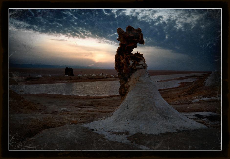 "photo ""The fallen asleep spirit the Сhott El Jerid"" tags: landscape, travel, Africa"