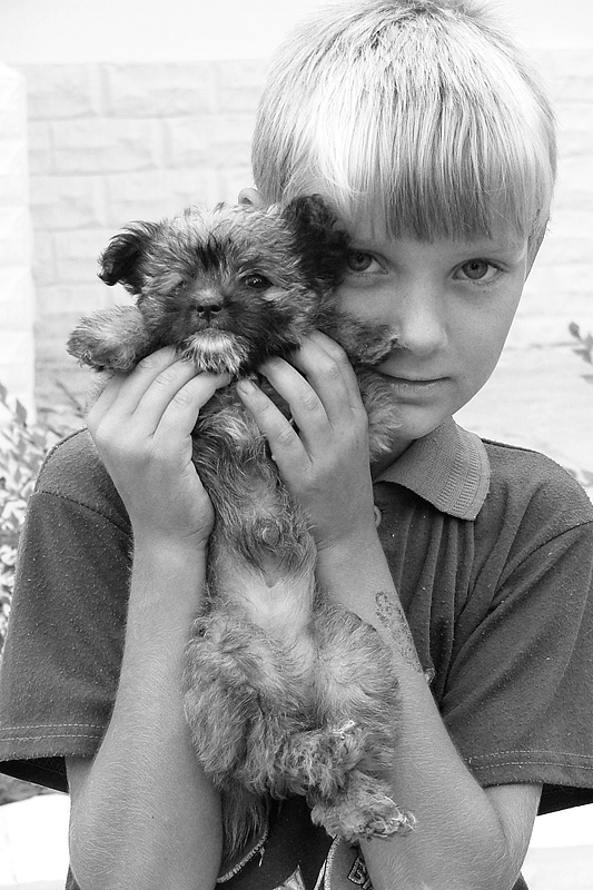 "photo ""Puppy and his Boy"" tags: ,"
