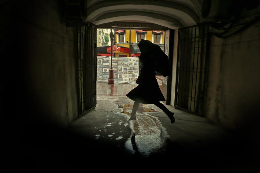 """фото """"Арбатский дождь"""" метки: жанр,"""