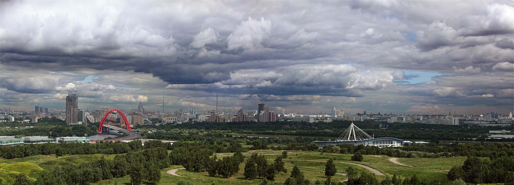 "photo ""Moscow clouds"" tags: landscape, city, summer"