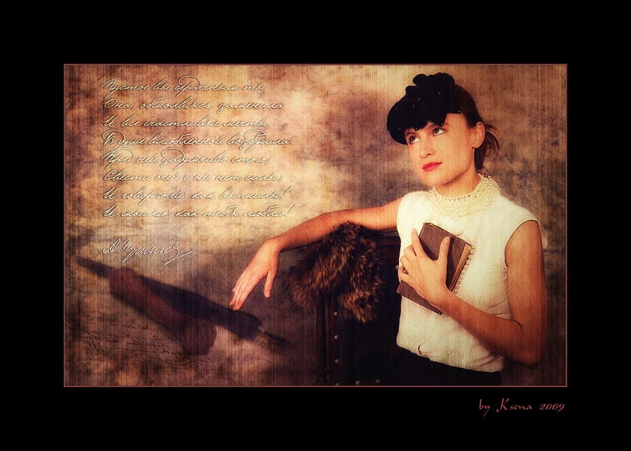 "photo ""Poetry..."" tags: old-time, montage,"