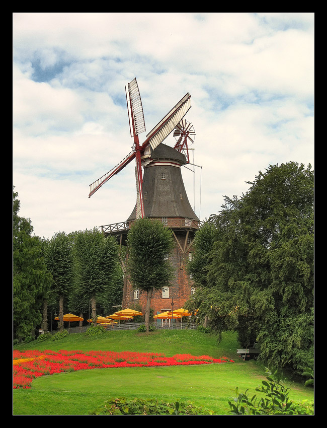 """photo """"The Mill v.2"""" tags: architecture, landscape, forest"""