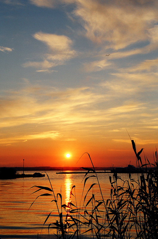 "photo ""Sunset over lake II"" tags: landscape, summer, sunset"