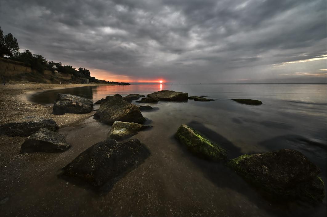 """photo """"Азовский берег.Н-Петровка.2.08.2009."""" tags: landscape, sunset"""