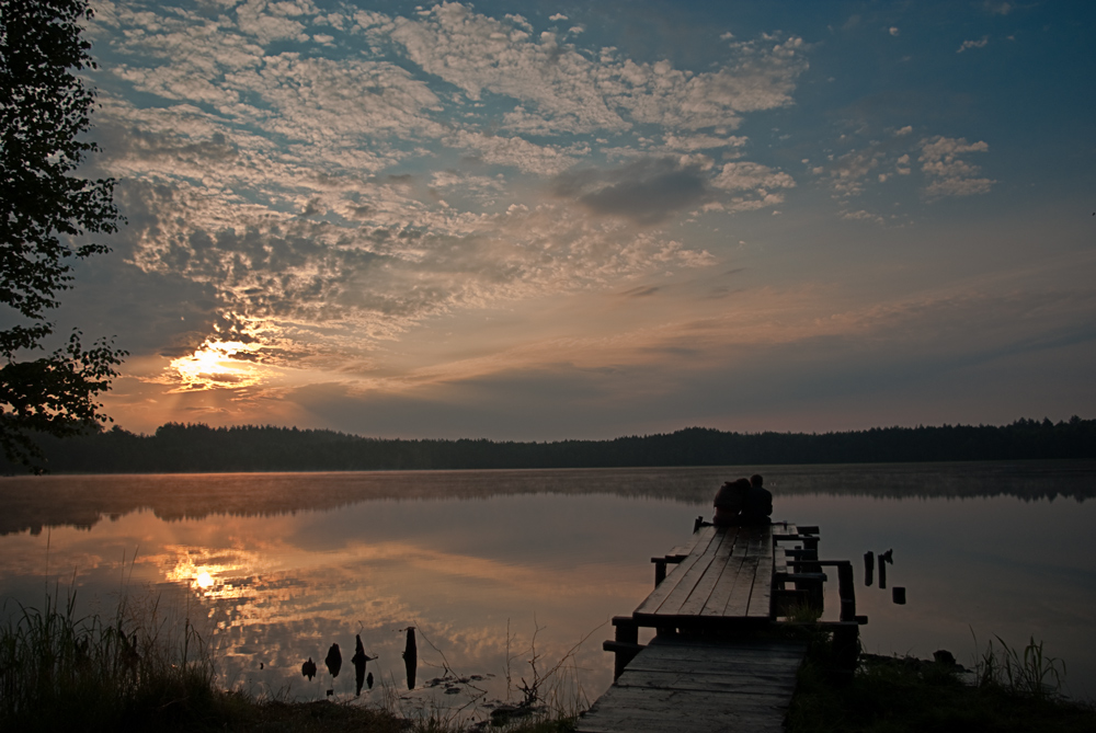 "фото ""Засиделись до рассвета"" метки: пейзаж, вода, закат"