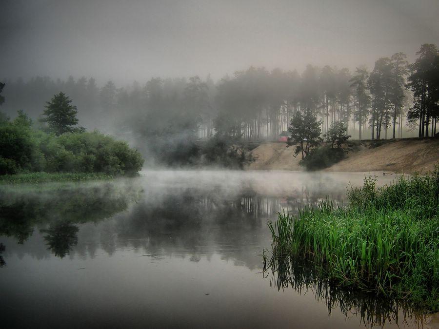 """фото """"туман над рекой"""" метки: пейзаж, вода"""