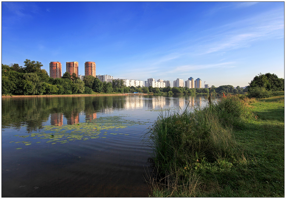 "photo ""Moscow Morning"" tags: landscape, city, water"