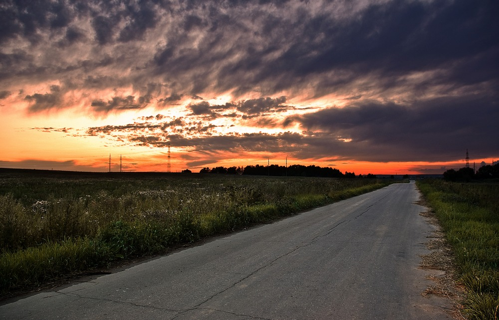 "photo ""***"" tags: landscape, clouds, sunset"