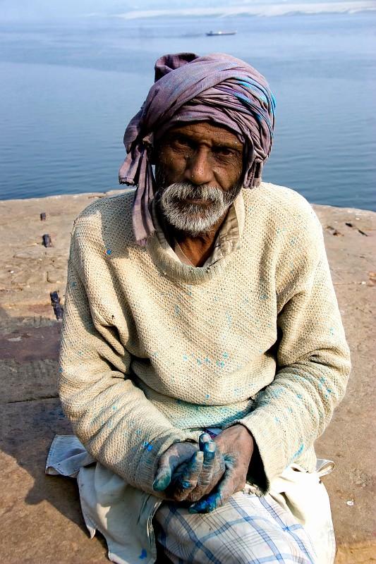 "photo ""Varanasi"" tags: travel, portrait, Asia, man"