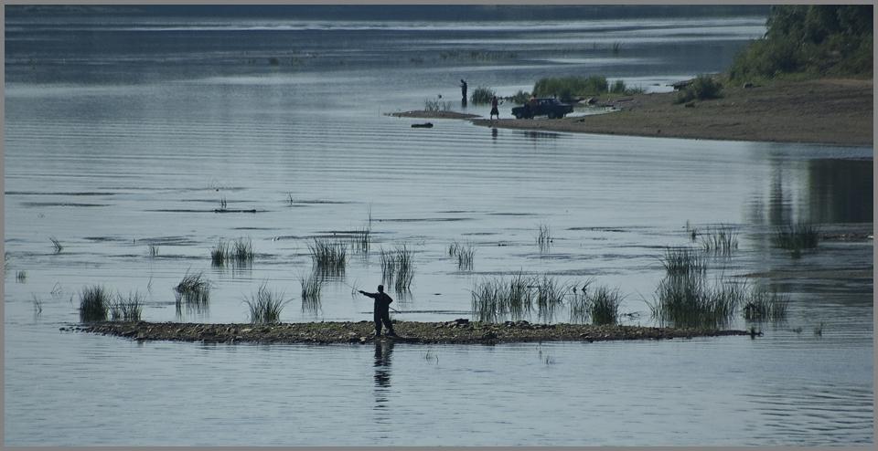 "фото ""Рыбаки на Белой..."" метки: пейзаж, вода"