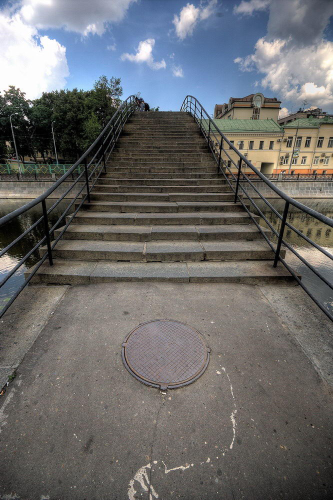 """photo """"Stair Bridge"""" tags: architecture, city, landscape,"""