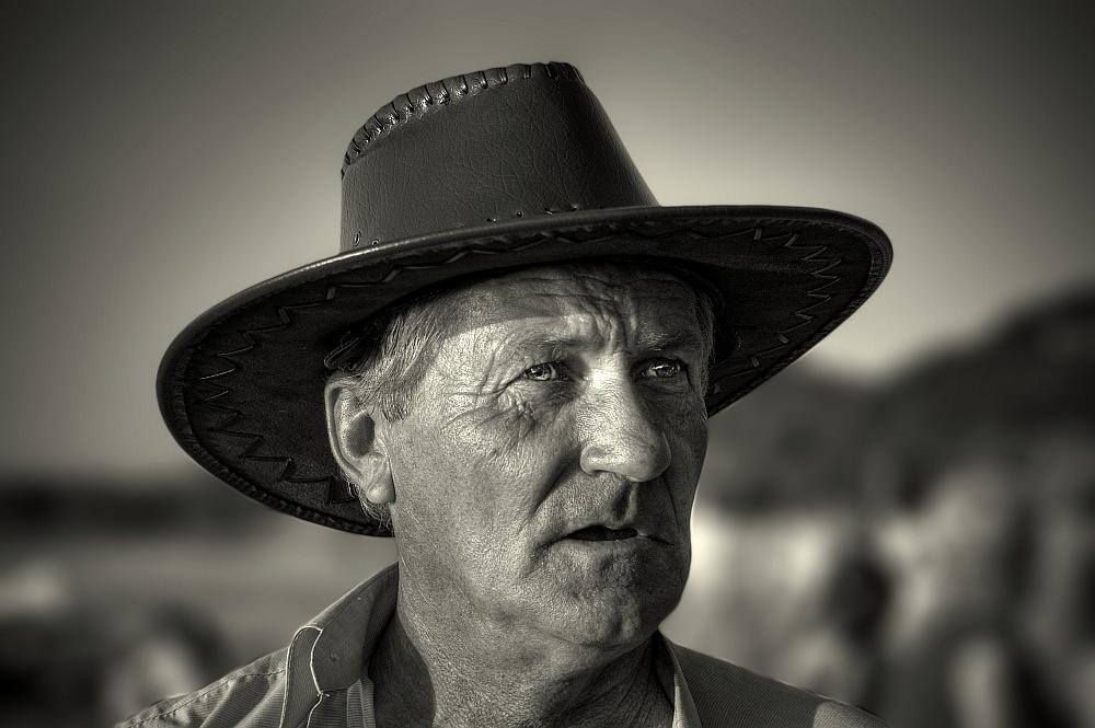 """photo """"COWBOY"""" tags: portrait, black&white, man"""