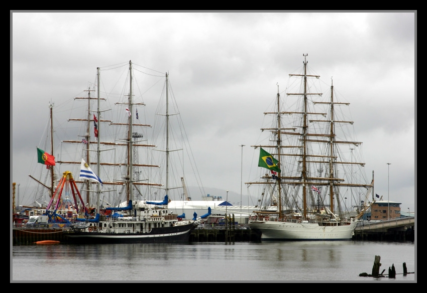"photo ""Tall ships at Belfast"" tags: landscape, water"