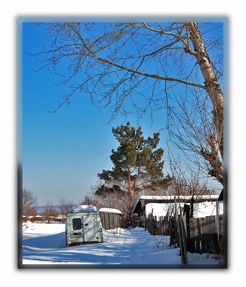 "photo ""Winter etude"" tags: landscape, technics, winter"