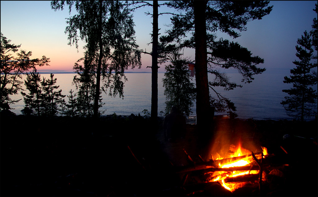 "photo ""almost white nights ... Lake Ladoga"" tags: landscape, travel, Europe, night"
