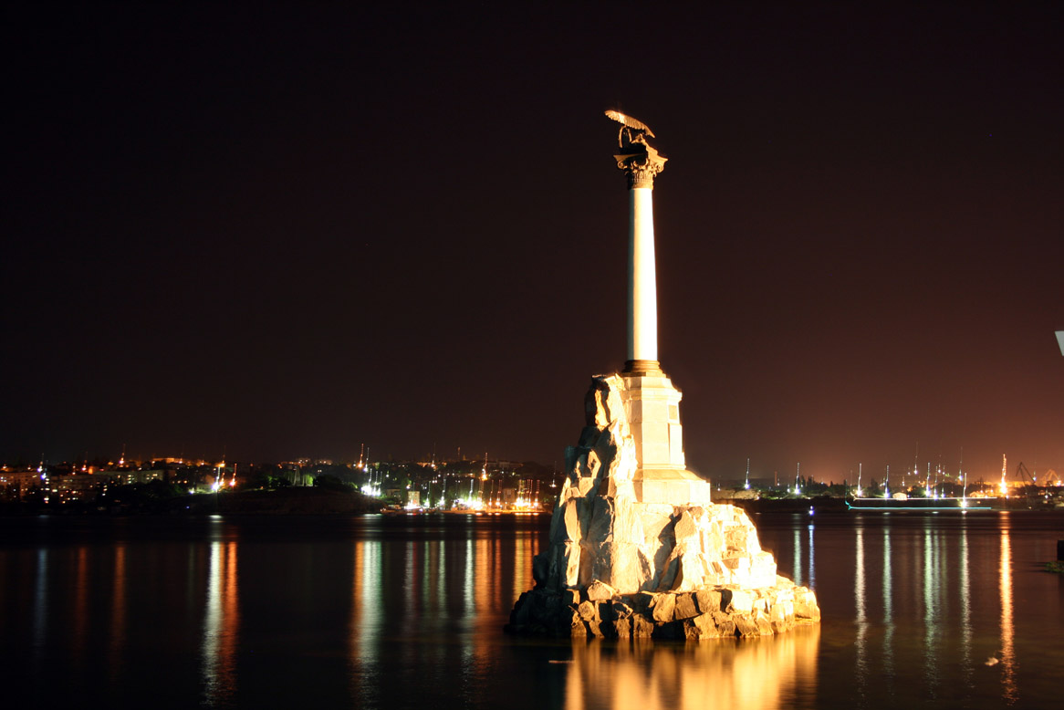 "photo ""А monument to the sunk ships"" tags: city,"