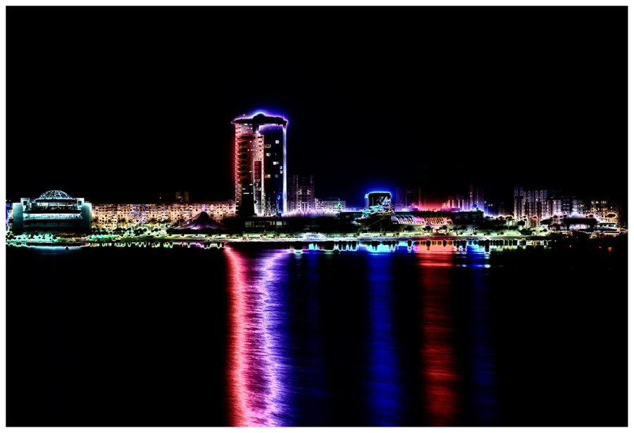 """фото """"Ночные отражения на воде"""" метки: город, пейзаж, ночь"""