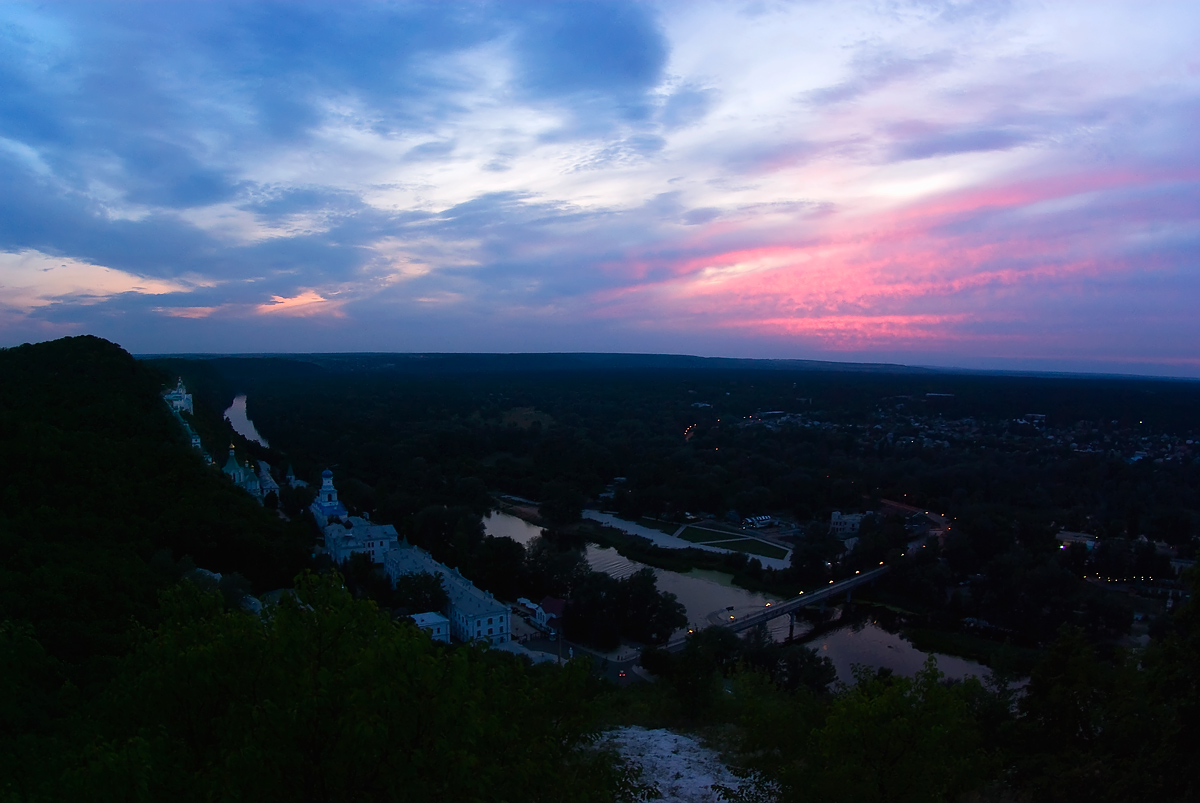 "фото ""Закат в Святогорье"" метки: пейзаж, закат"