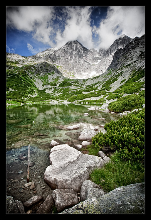"photo ""Skalnate Pleso"" tags: landscape, mountains, water"